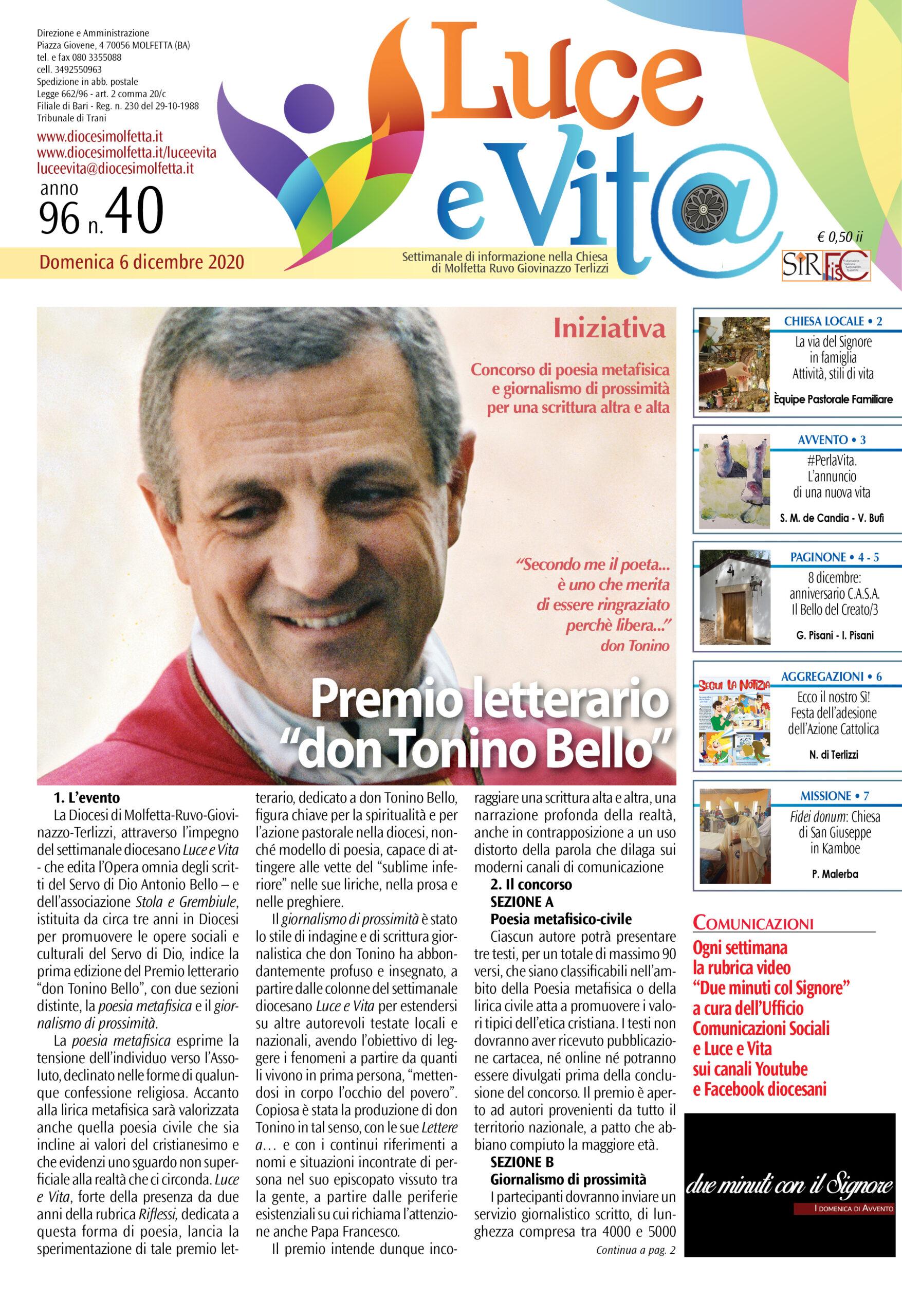 """Premio letterario """"don Tonino Bello"""""""