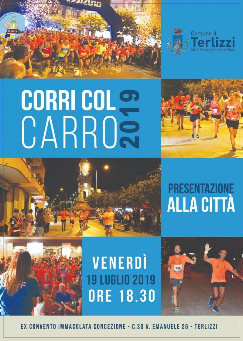 """Manifesto """"Corri col carro 2019"""""""